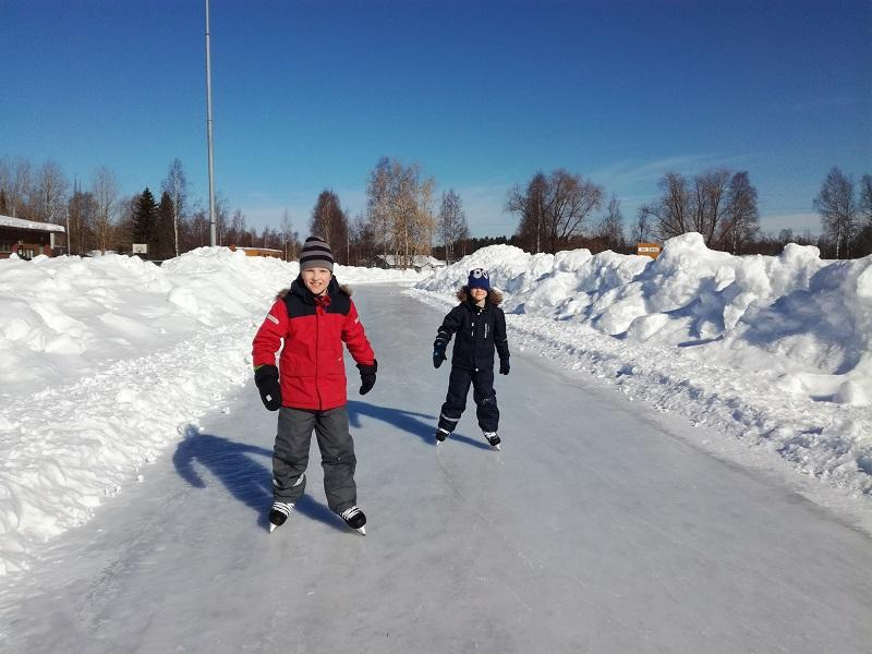 Ice-skating with kids
